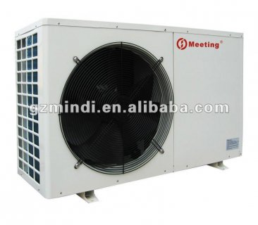 Monobloc heat pump for house