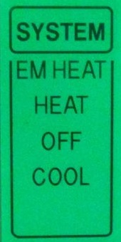 thermostat hvac heat pump mode emergency cool